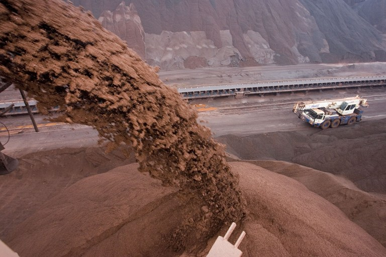 Brazilian iron ore pods were increasing in China in July