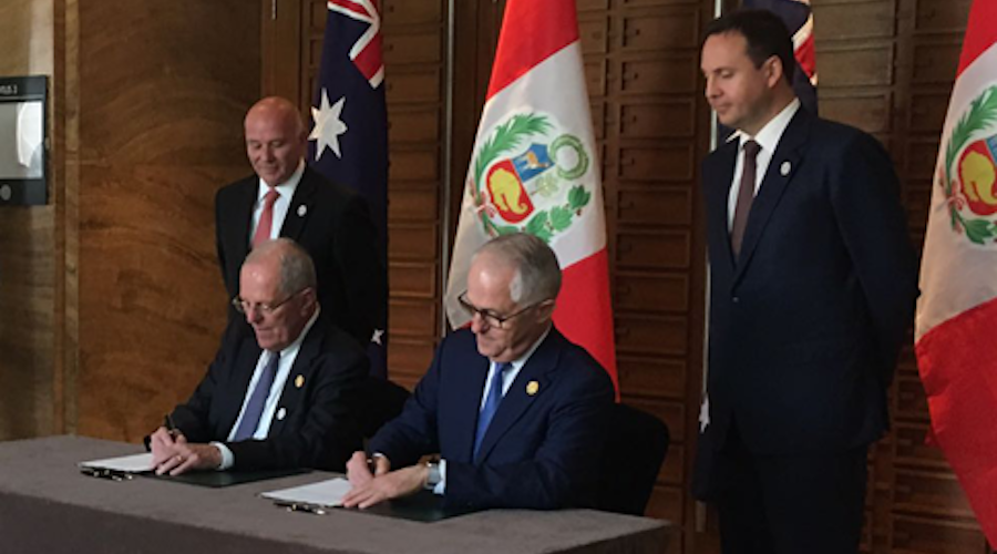 Australian mining industry group praises free trade deal with Peru